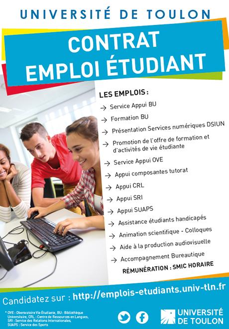 emploi etudiant universite